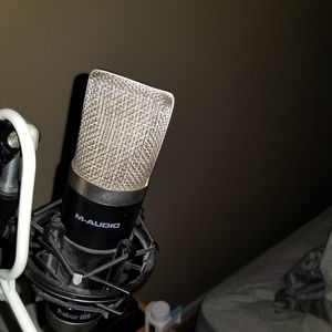 M Audio Microphone, desk stand and pop filter for Sale in Indianapolis, IN