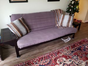 Wooden Futon Frame with Folding End Tables and Futon Mattress for Sale in Lexington, KY