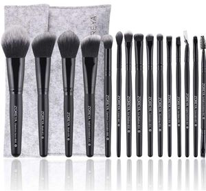15Pcs Zoreya Makeup Brush Set High End Professional Synthetic Cruelty Free Bristles Cosmetic Brushes With Case for Sale in Wichita, KS