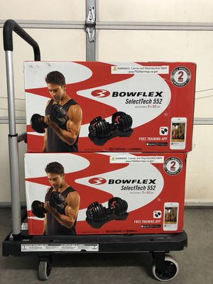 Bowflex SelectTech 552 Adjustable Dumbbell Set (BRAND NEW + SEALED) ($450) for Sale in Las Vegas, NV