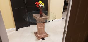 "38"" Glass / Roman Column Base Dining Table for Sale in El Monte, CA"