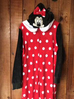 Disney Minnie Mouse onesie Pajamas with hood 2XL for Sale in Clermont, FL