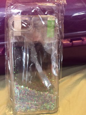 iPhone 7 liquid glitter case w/screen protector for Sale in Laurel, MD