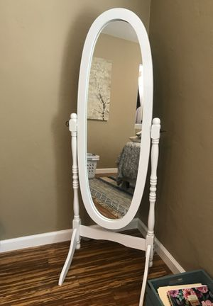 Standing Mirror- white for Sale in San Diego, CA