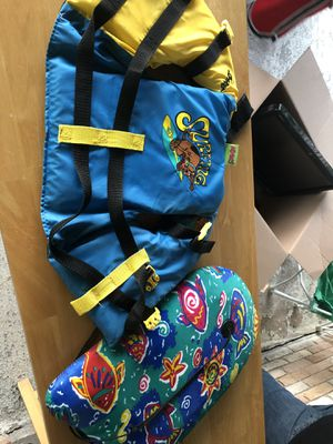 Scooby doo Floating vest for a child and Waves surfboard for Sale in Houston, TX