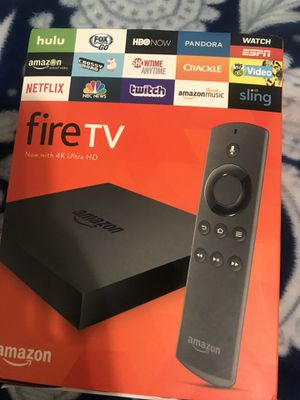 New amazon fire tv 4k box movies shows channels for Sale in Hayward, CA
