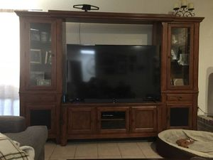 Solid Wood Entertainment Center for Sale in Houston, TX