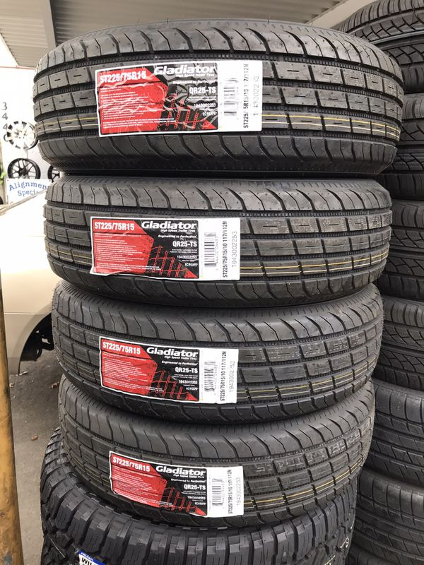 TRAILER TIRES ANY SIZE available MSG ME FOR PRICING