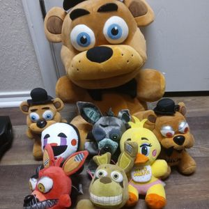 Lot Of Five Nights At Freddy Plushies for Sale in San Antonio, TX