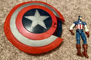 Captain America shield/Nerf gun and action figure for Sale in Tampa, FL
