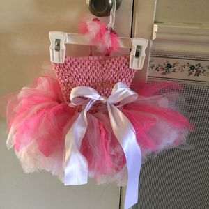 Tutu Infant/Girls Dress with matching Headband Ages 6-9 Months for Sale in Placentia, CA