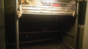 Full Size Bunk bed and desk for Sale in Fresno, CA