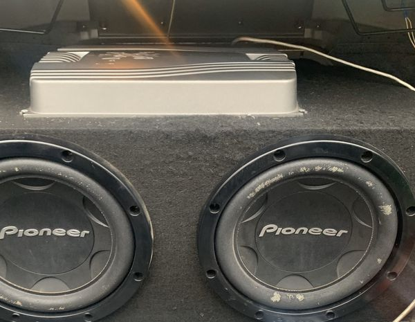 Pioneer amp with subwoofers
