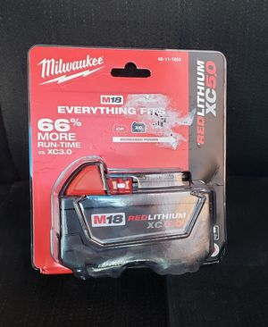 Milwaukee 5.0 Battery New Nueva for Sale in Irving, TX
