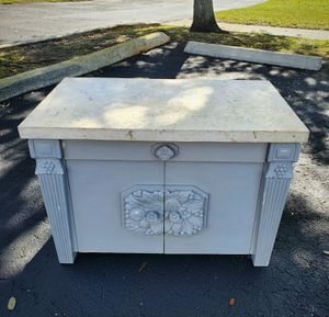 Vintage shabby chic gray side accent table or cabinet for Sale in Davie, FL