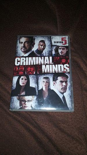 Criminal Minds season 5 ...(6discset) for Sale in Dallas, TX