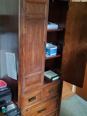 Bedroom armoire shelving and drawers-2 for Sale in Toms River, NJ