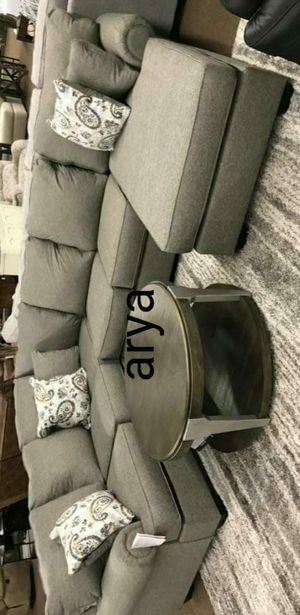 ⚘Ada/NeW Furniture🗽Renchen Pewter RAF Sectional# for Sale in Columbia, MD
