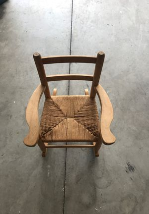 Kids rocking chair wood for Sale in Kissimmee, FL