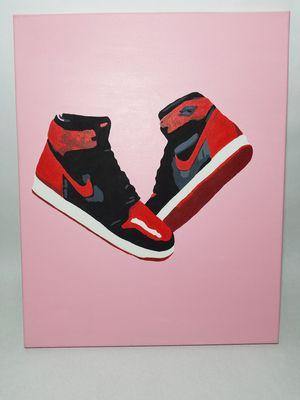 Nike air jordan 1 bred painting for Sale in Los Angeles, CA