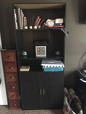 6 foot tall black book shelf unit for Sale in New Albany, OH