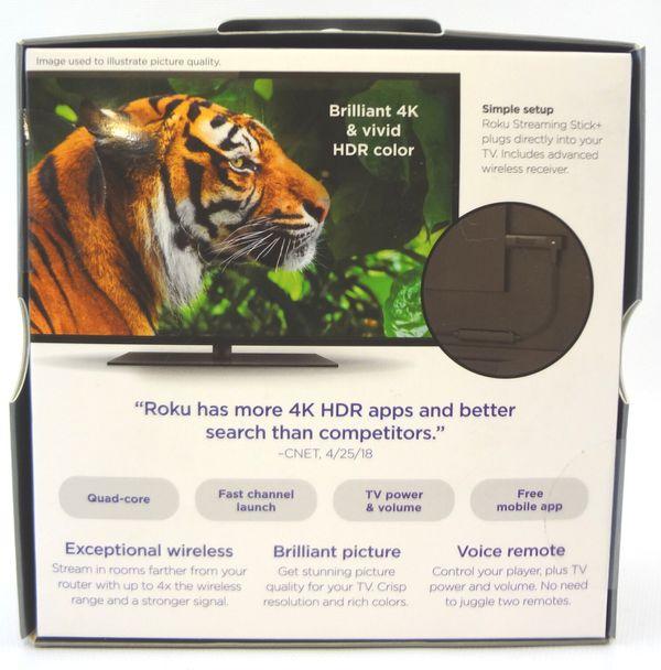 SEALED Roku Streaming Stick+ Plus,Voice Remote 3810RW 4K HDR 1080P HD Quad Core