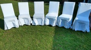 White Cushioned Chairs 6 for Sale in Alexandria, VA