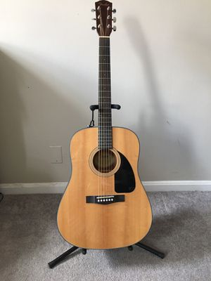 Fender Acoustic Guitar (stand and case included) for Sale in Baltimore, MD