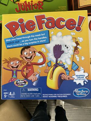 Games For sale! Pie Face, Apples to Apples Junior and Dragon Wooden Puzzle for Sale in Richmond, TX