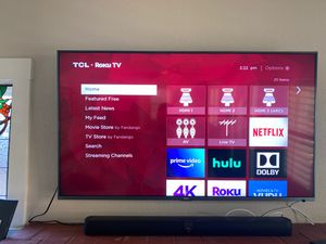 TCL 55inch Class 6-series 4k UHD Dobly Vision HDR Roku Smart TV for Sale in Sacramento, CA