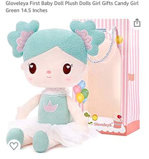 Gloveleya First Baby Doll Plush Dolls Girl Gifts Candy Girl Green 14.5 Inches for Sale in Columbus, OH