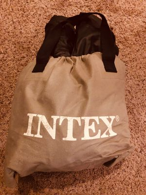 Twin Size Double Platform Intex Bed Built-In Pump for Sale in Nashville, TN