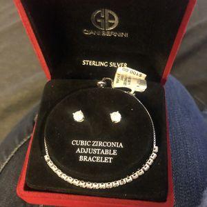 Sterling Silver Earring/Bracelet Set for Sale in Los Angeles, CA