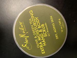 Shea Moisture Olive & Green Tea Extra Moisturizing Hand & Body Scrub w/ Avocado 12 oz for Sale in Ithaca, NY