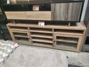 TV Stand / Entertainment Center for TVs up to 95in TVs, Hazelnut for Sale in Huntington Beach, CA