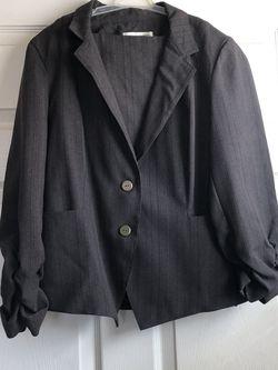 Karin Stevens Women's Suit, Striped Charcoal Grey, Size 10 for Sale in Riverside,  CA
