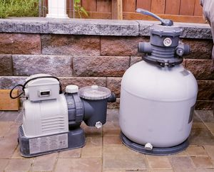 Intex Krystal Clear Sand Filter Pump for Above Ground Pools, 16-inch, 110-120V with GFCI for Sale in Edmonds, WA