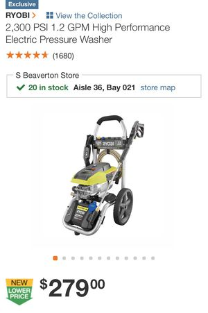 Ryobi eclectic pressure washer new in box for Sale in Troutdale, OR