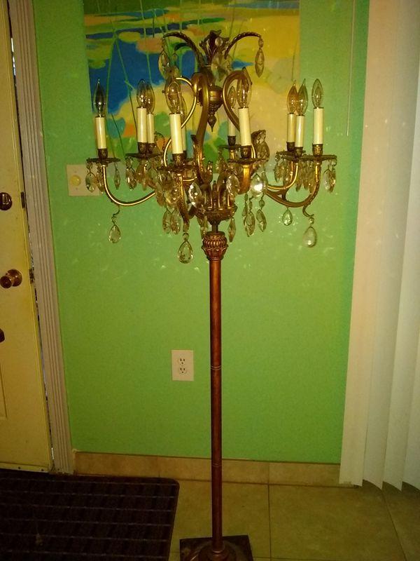 Light Vintage Floor Candelabra