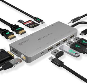 Brand New)Docking station, USB C Hub 13-in-1 with Triple Display 2X HDMI, 4K, Type-C 100W Charging, 3xUSB 3.0, VGA, 3.5mm Audio for Sale in Pasadena, CA