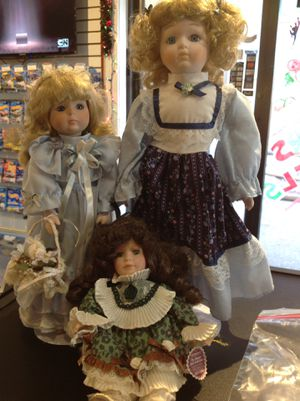 Porcelain Dolls Bundle of 3 (PDB2) for Sale in West Dundee, IL