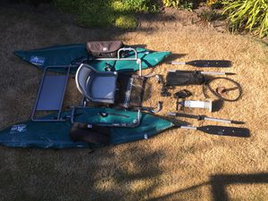 Outcast Pontoon Boat: portable, inflatable, fly fishing boat for Sale in Everett, WA
