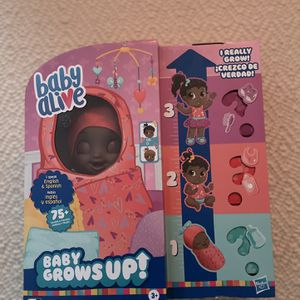 Baby Alive Baby Grows Up Sweet Blossom Doll Girls Toy Kids Toy Dolls Play Time for Sale in Philadelphia, PA