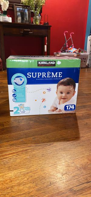 SIZE 2 - 174ct Diapers with wetness indicator - BRAND NEW IN BOX - for Sale in Fairfax, VA