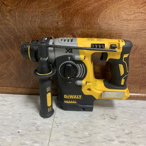 DEWALT 20-Volt MAX XR Lithium-Ion Cordless 1 in. SDS-Plus Brushless L-Shape Concrete & Masonry Rotary Hammer (Tool-Only) for Sale in Houston, TX