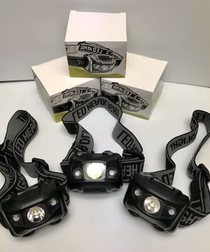 Set of 3 Adjustable LED Headlamps $10 for Sale in Anaheim, CA
