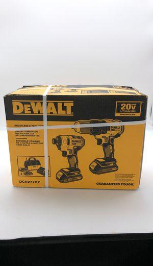 Dewalt DCK277C2 Brushless 20v Drill Set for Sale in Lake Worth, FL