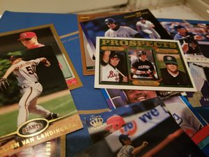 Shoebox full of cards. Baseball, basketball, and football for Sale in Houston, TX