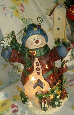 (VINTAGE)Snowman Night Light-Crazy Mountain for Sale in Hannibal, MO