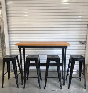 Bistro Table with 4 metal stools for Sale in Purcellville, VA